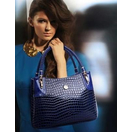 Shiny Synthetic Crocodile Design Bag