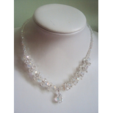 German crystal AB white clustered nec...