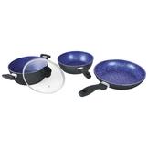 4 piece non stick cookware set (Blue)