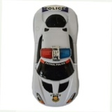 Battery Operated Police Car (White)
