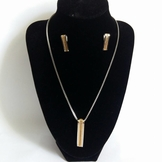 Stainless Steel Necklace & Earrings set