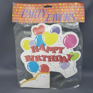 {en: Happy Birthday Centerpiece;}