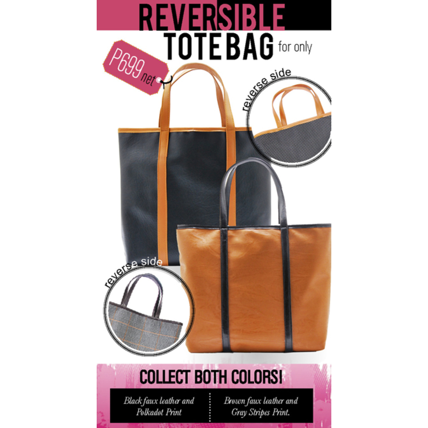 1a2888ef3f33 REVERSIBLE TOTE BAG. CLASSIC   TRENDY MUST HAVE!