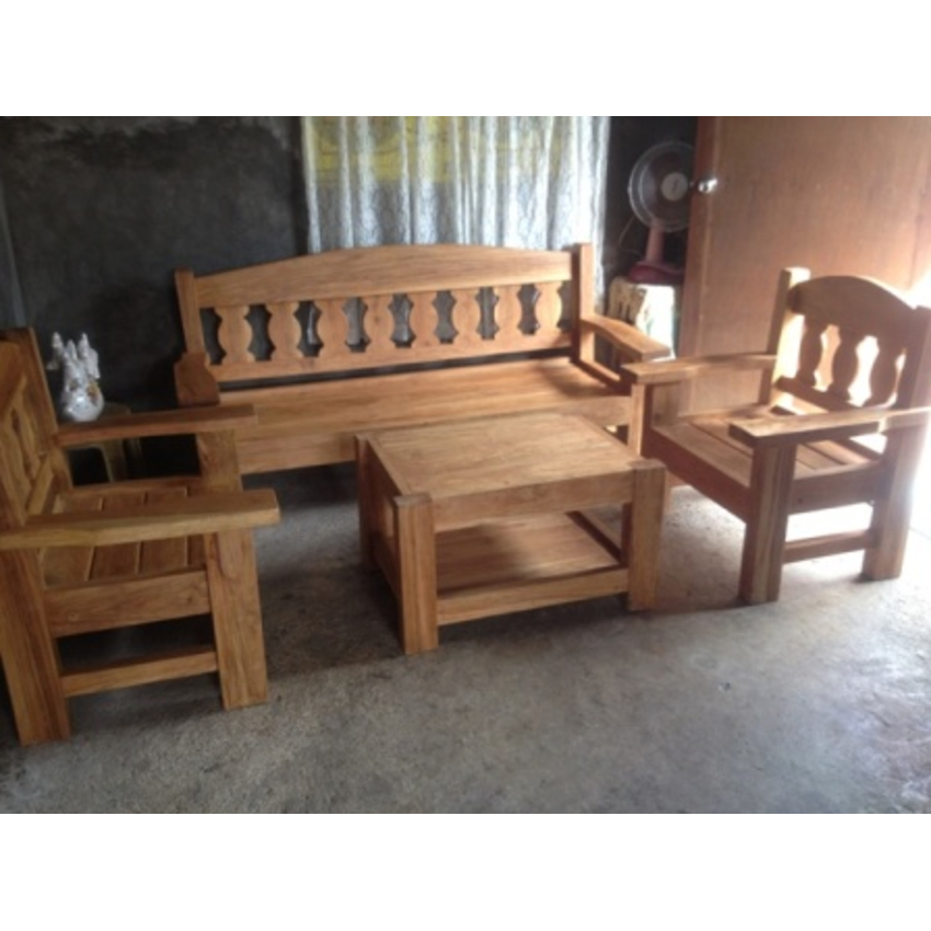Home living furniture tables narra sala set with center table 005 online internet Home furniture online philippines